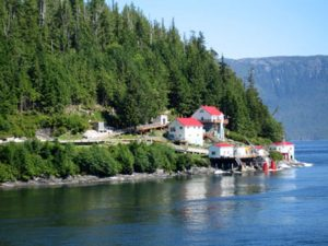 Houses on the lake in Canada
