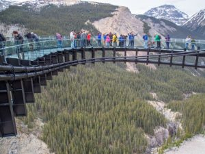 People standing on Skywalk Bridge