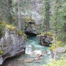 view of a waterfall at Canyon River Jasper Canada