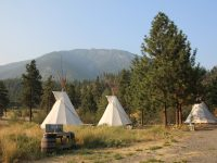 Tipis by Thompson River