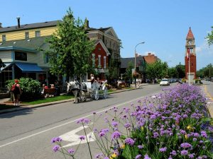 Niagara town featuring heather and clock tower