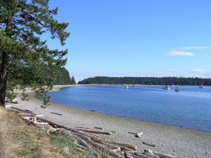 Beach in Quadra Island