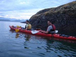 Kayak on the sea in Quadra