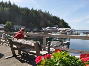 Customer at the Telegrpah Cove harbour