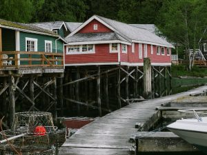 Huts in Telegraph Cove