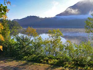Lake and mountain in Telegraph Cove
