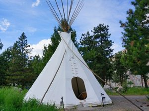 Enterance of Tipi accommodation