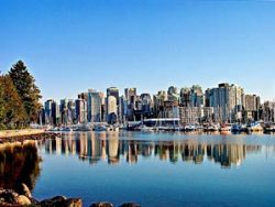 city skyline in vancouver canada