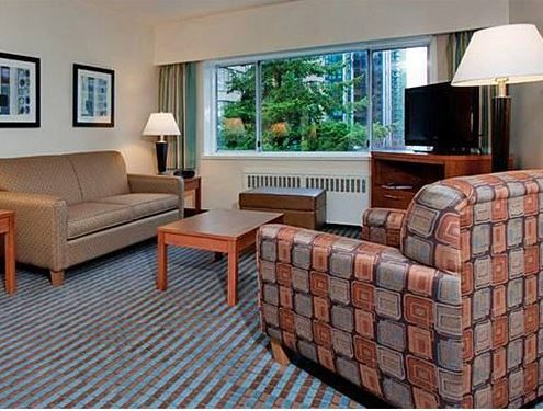 Inside room at Greenbrier accommodation, Vancouver