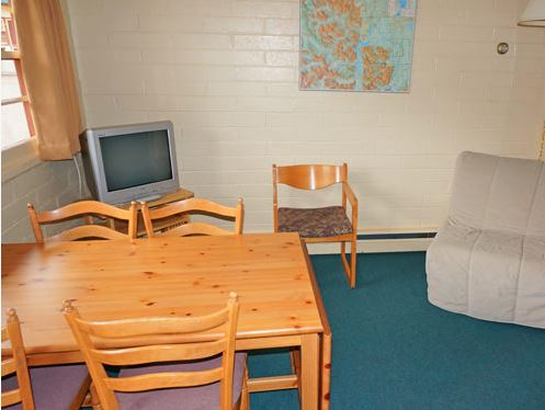 Tables and chairs of inside accommodation