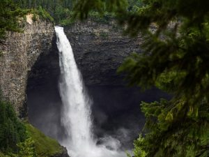 Wells Gray Waterfall, view from the top