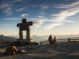 Whistler, hike to the mountain top