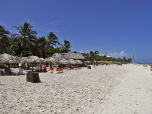 A view of the beach in Varadero