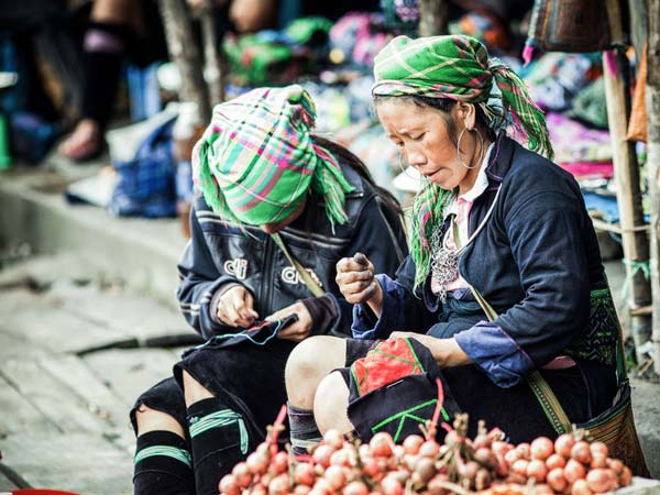 Two local ladies in Sapa working