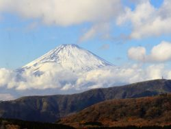 Landscape of Mount Fuji in Hakone, Japan