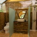 Bathroom inside tented camp
