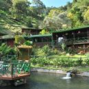 Lake view of our jungle lodge in San Gerardo de dota