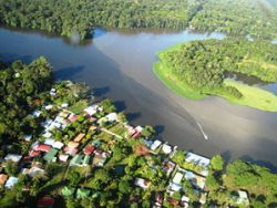 Tortuguero jungle & river photo from above