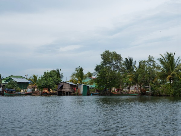 Cardamom village with stilted houses