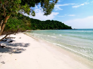 White sandy beach in Vietnam Phu Quock
