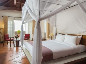 The bedroom of our standard hotel in Chau Doc