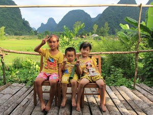 Local children in Northern Vietnam