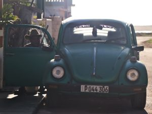 Old classic Car in local town