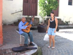 A local man playing music in Camaguey