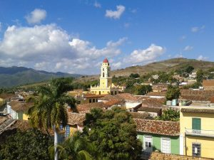 View of town and buildings in Trinidad
