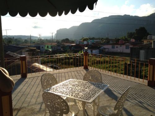 terrace from casa with view of local village