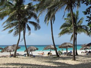The beach in Varadero