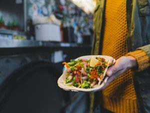 Tacos from a food truck in Vancouver city