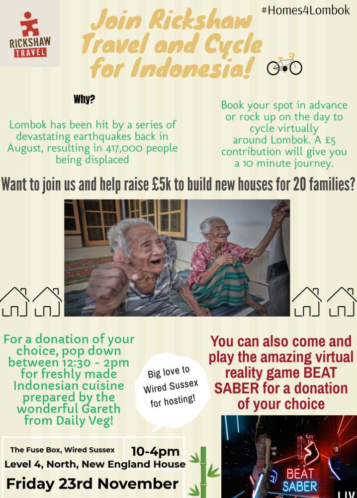 Poster showing our fundraising event on 23rd Nov