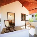 veranda outside bungalow at arugam bay accommodation