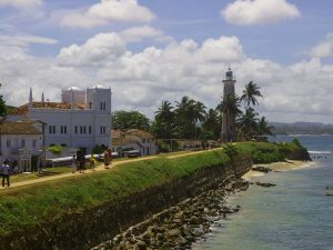 The coastline in Galle