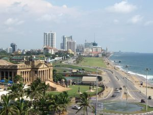 The coastline in Colombo