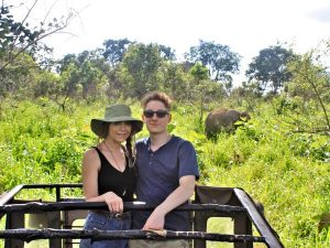 2 young people on Sri Lanka safari