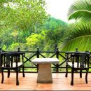 open balcony with views of rainforest at jensons bungalow sinharaja national park