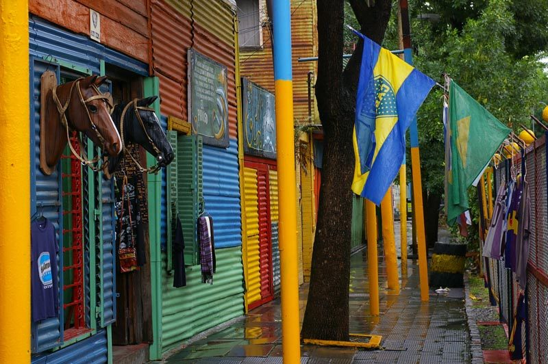 buenos aires colourful streets