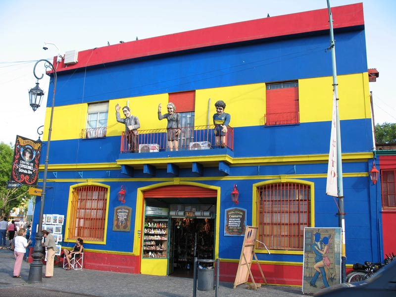 buenos aires colourful house