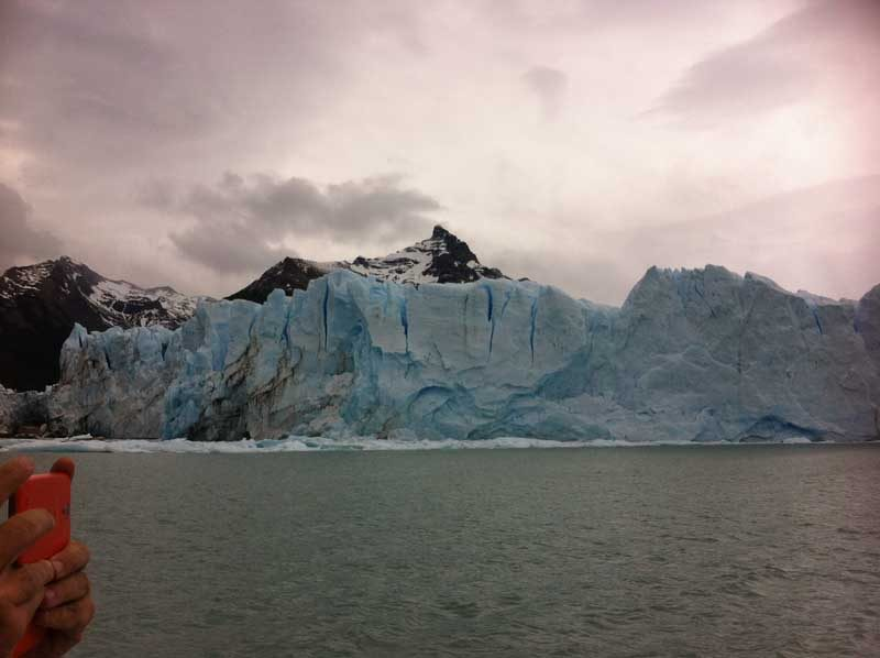 glacier with water
