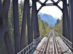 Train tracks in Okanagan Valley, Canada