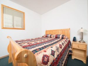 Bedroom at lodge in Telegraph Cove/Port McNeill