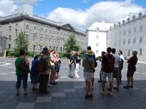 People having a walking tour in Quebec City