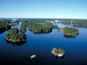 Thousand Islands on St Lawrence