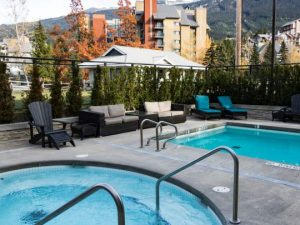 Pool at standard hotel in Whistler