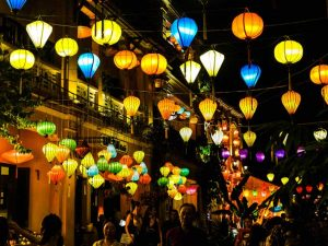 Lanterns in Hoi An at night time