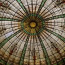 Glass domed ceiling