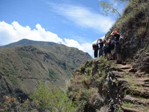 Inca Trail Peru cliff edge