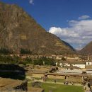 View of city in Ollantaytambo